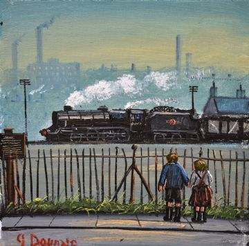 James Downie Original Oil Painting The Railway Children
